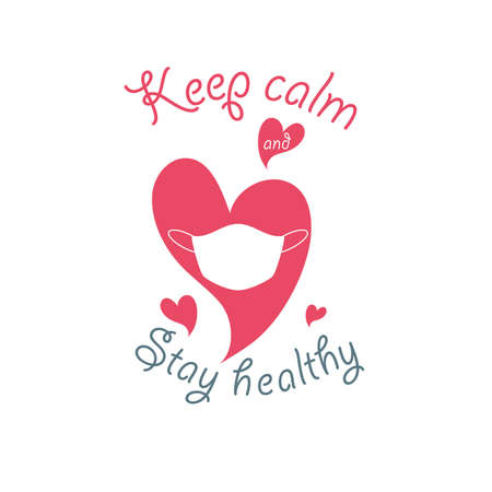 keep calm and stay healthy, banner vector illustration design