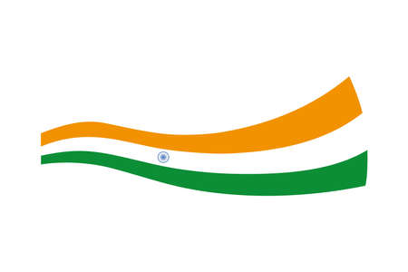 flag of india on white background vector illustration design 写真素材 - 150985320