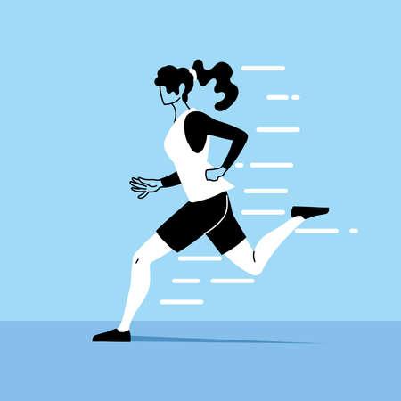 woman avatar running design, Marathon athlete training and fitness theme Vector illustration 版權商用圖片 - 150990102