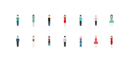 Women and men avatars design, People person human profile and user theme Vector illustration