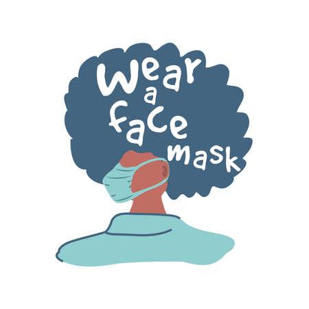wear a face mask, prevention of contagion by coronavirus vector illustration design Stock Illustratie