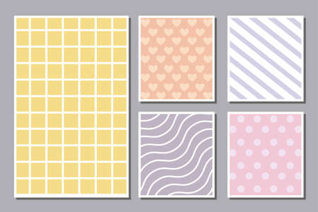 Pattern striped pointed and hearts frames, Background abstract texture art wallpaper template and decoration theme Vector illustration Stock Illustratie
