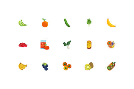 Icon set design, healthy organic food fresh natural market product quality and restaurant theme Vector illustration