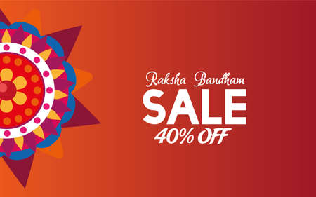 Rakhi decorated festival Raksha sale vector illustration desing 写真素材 - 151087456