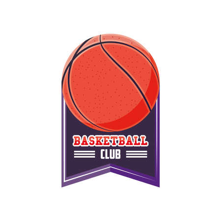 Ball detailed style icon design, Basketball sport hobby competition and game theme Vector illustration Stock Illustratie