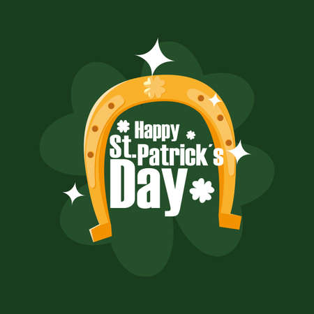 Saint Patricks day design, Ireland celebration festival irish and lucky theme Vector illustration