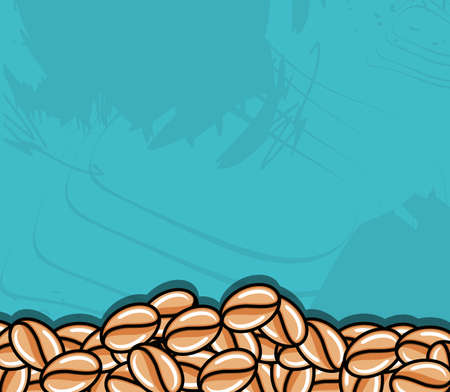 frame with grains coffee vector illustration design