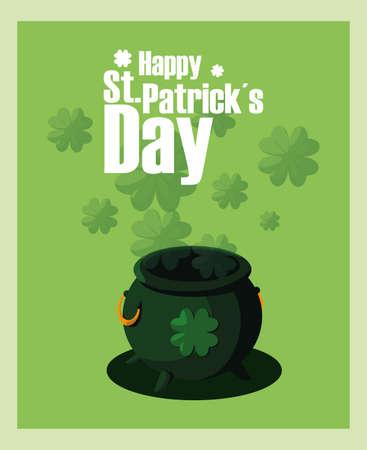 Saint Patricks day design, Ireland celebration festival irish and lucky theme Vector illustration Reklamní fotografie - 151144993