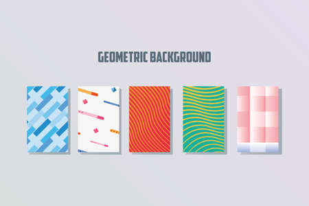 geometric background covers shapes minimal style vector illustration