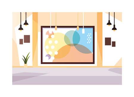 exhibition hall , art gallery on white background vector illustration design