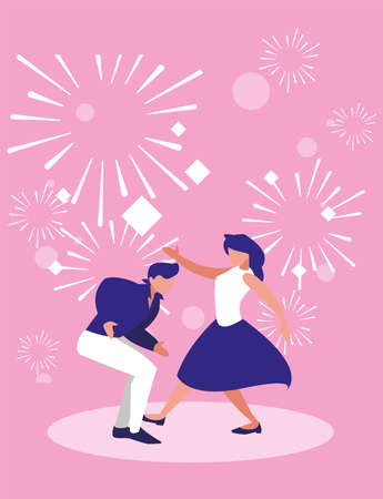 Dancers design, Music festival sound melody song musical art and composition theme Vector illustration