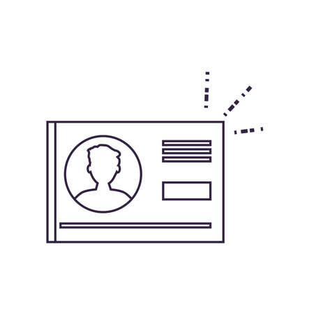 document id paper isolated icon vector illustration design Ilustracja