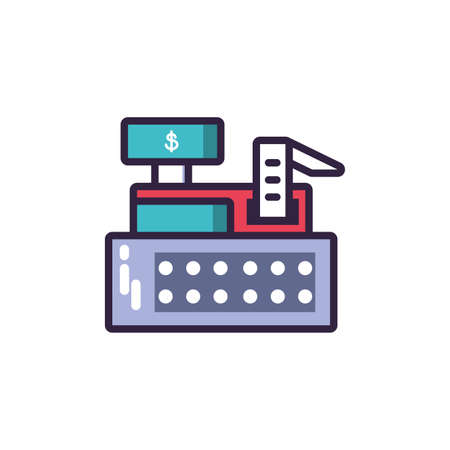 cash register in white background vector illustration design