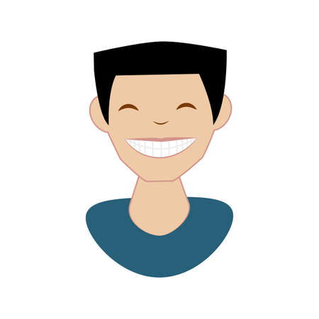 man with perfect teeth vector illustration design