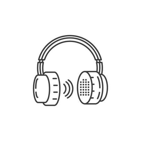 earphones audio device technology vector illustration design