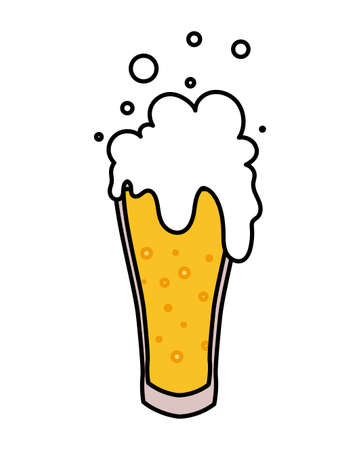 mug of beer in white background vector illustration design