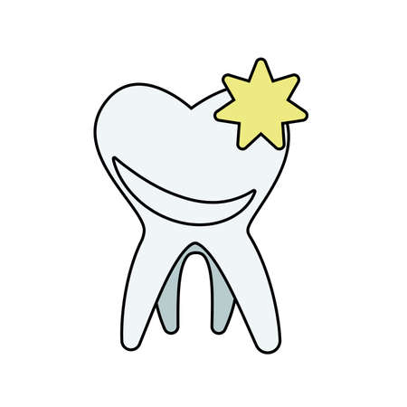 tooth human isolated icon vector illustration design