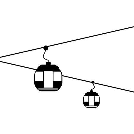 mountaineering transporter cabin icon vector illustration design