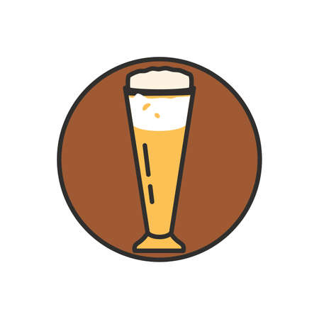 glass of beer oktoberfest icon vector illustration design