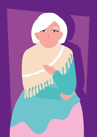 fat old woman avatar character vector illustration design