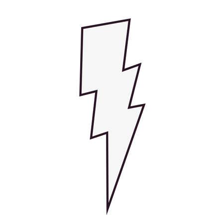 thunderbolt comic pop art on white background vector illustration