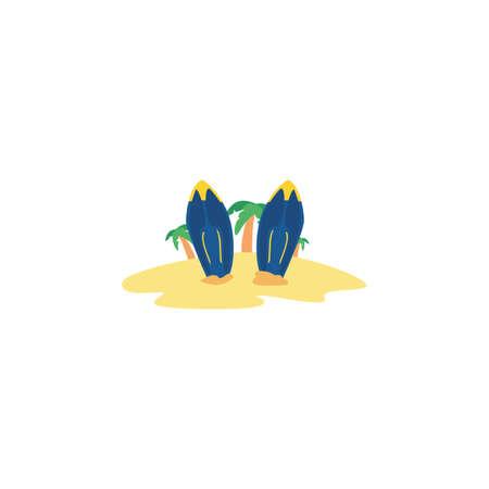 surfboard color blue on white background vector illustration design