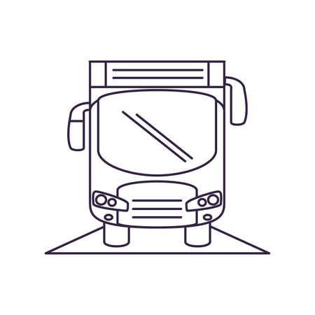 bus transport vehicle isolated icon vector illustration design