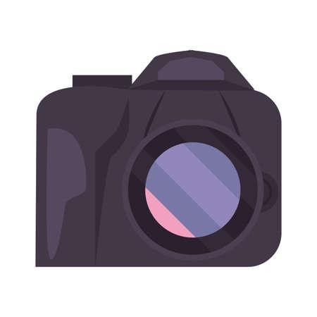 photographic camera gadget white background vector illustration
