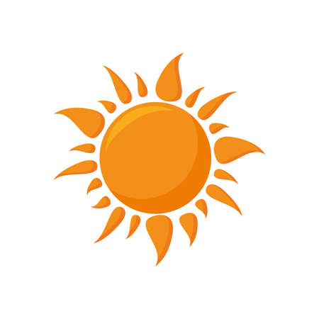radiant sun on white background vector illustration design