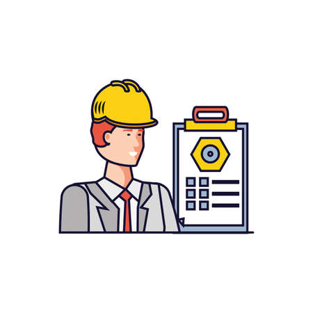 Worker design, Working occupation person job corporate employee and service theme Vector illustration Ilustración de vector