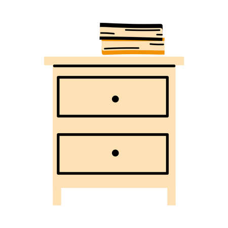 Filing cabinet with two drawer vector illustration design