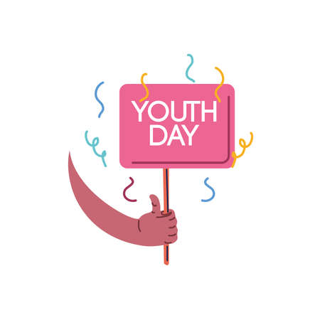 youth day, annual 12 August celebration vector illustration design