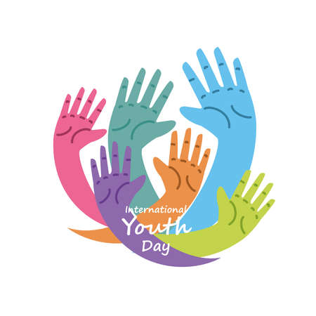 international youth day, annual 12 August celebration vector illustration design