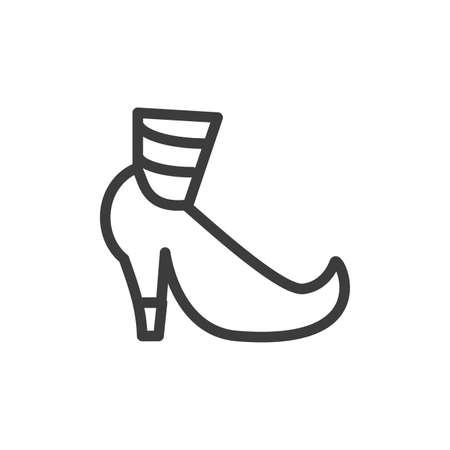 silhouette of funny shoe of leprechaun on white background vector illustration design