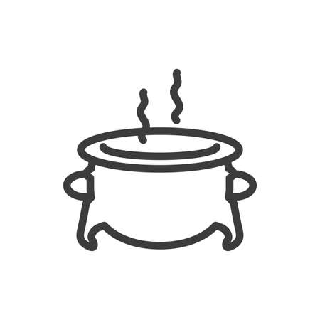 silhouette of cauldron bubbly on white background vector illustration design
