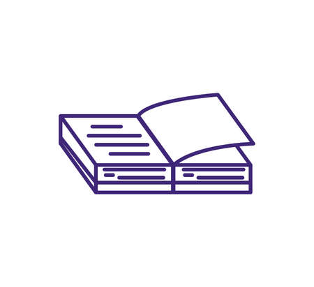 textbook open supply isolated icon vector illustration design