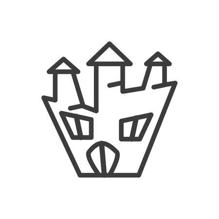silhouette of halloween horror house on white background vector illustration design