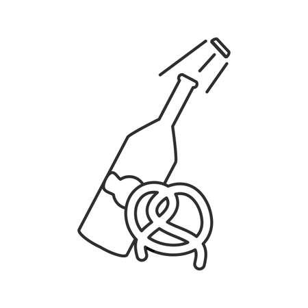 bottle beer oktoberfest and pretzel vector illustration design