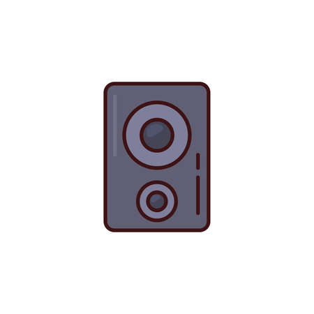sound music speaker flat icon vector illustration design  イラスト・ベクター素材