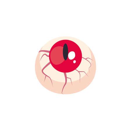 eyes scary halloween on white background vector illustration design