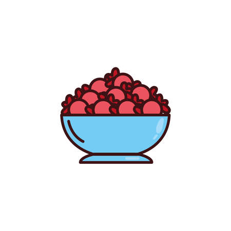 container with candies on white background vector illustration design
