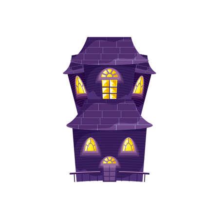 halloween horror house on white background vector illustration design
