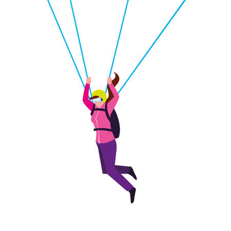 skydivers extreme sport and lifestyle vector illustration