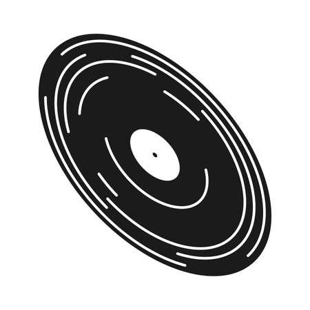 lp vinyl record music sound design vector illustration