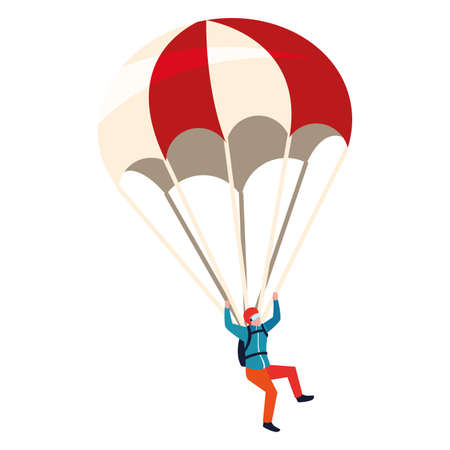 skydivers extreme sport and lifestyle vector illustration Vecteurs
