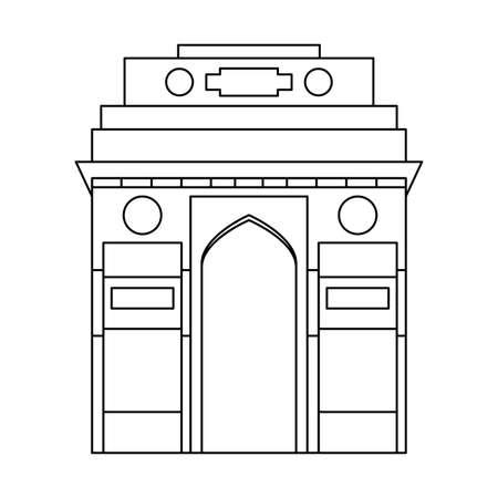 taj mahal structure emblematic of indian vector illustration design
