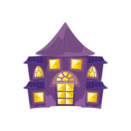 halloween horror house on white background vector illustration design Vektorgrafik