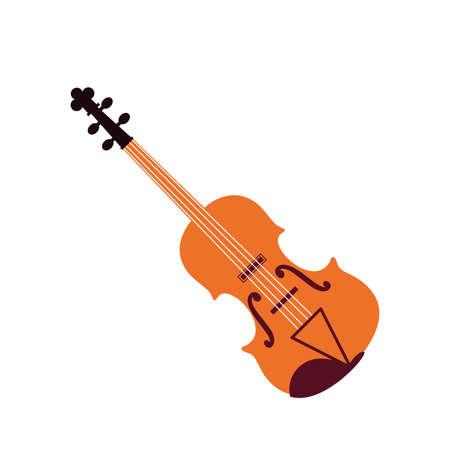 violin musical on white background vector illustration