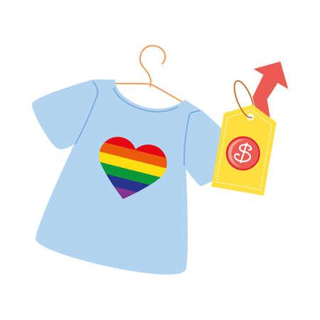 price increase for shirts for sale vector illustration design Vector Illustration