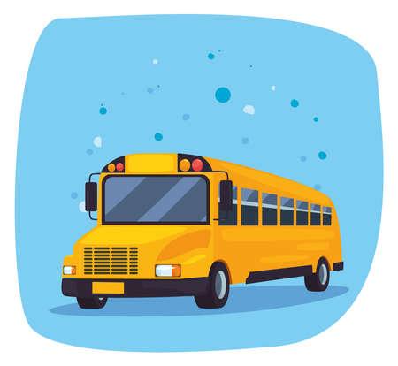 back to school transport bus vector illustration